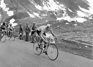 Eddy Merckx riding in the Tour du France