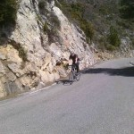 Andy approaches the summit of the Col de la Madone