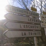 Signpost to l'Escarene