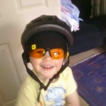 Nephew number two in my cycling kit